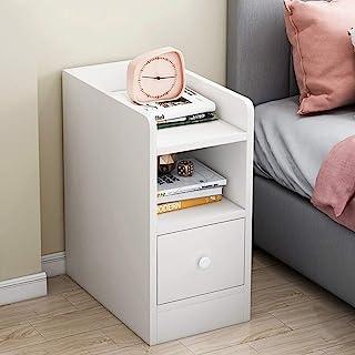 QLIGHA Table de Chevet Mini Armoire de Rangement étroite en Bois Moderne de 20 cm avec Supports à tiroirs pour Chambre à C...