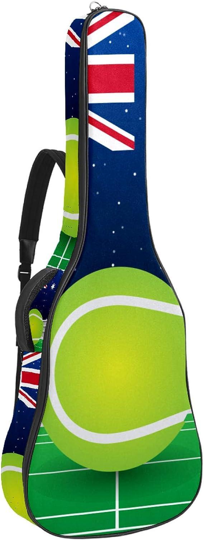 Mochila de tenis australiano con bandera británica y funda gruesa para guitarra acústica y bajo eléctrico