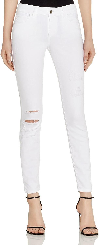 HIDDEN Women's Bella Ankle Skinny Jeans In Distressed White 27