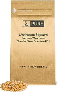 Mushroom Popcorn Kernels (15 lb) by Pure Organic Ingredients, Gourmet Popcorn, Gluten Free, Vegan, Ideal for Caramel Corn & Popcorn Balls, Eco-Friendly Packaging (Also in 5 lb)