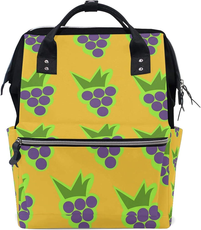8809d0564da9 Cute Grape PaintingTravel Backpack Canvas Handbag School Pack FAJRO ...