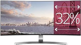 LG 34UC98-W - Monitor UltraWide Curva de 87 cm (34 pulgadas, Quad HD, IPS, LED, 3440 x 1440 pixeles, 5 ms, 21:9, 250 cd/m2) Color Blanco