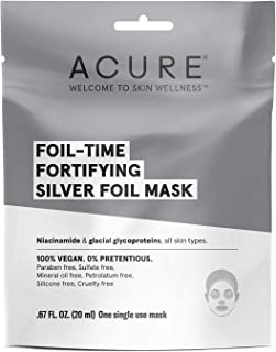 Acure Foil-Time, Fortifying Silver Mask, 12 Count