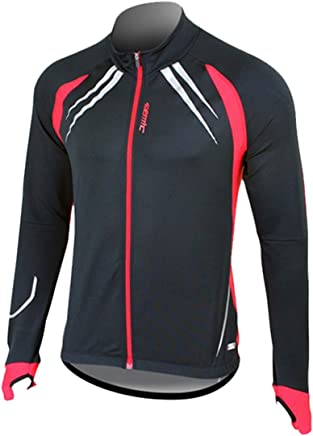 WOSAWE Women's Fall Winter Fleece Warm Athletic Stretch Cycling Outfit Jacket