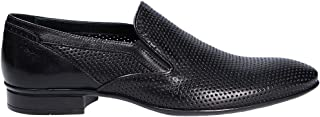 MIRAGE CALZATURE Men's 9210N Black Leather Loafers