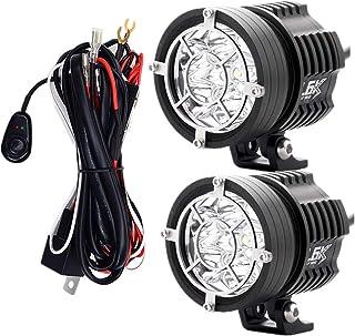 GZCRDZ 2PCS Motorcycle 6 Chips LED Headlight 60W 10000LM Moto Spotlight Waterproof Motorbike Fog Light Bulbs Accessories 6...