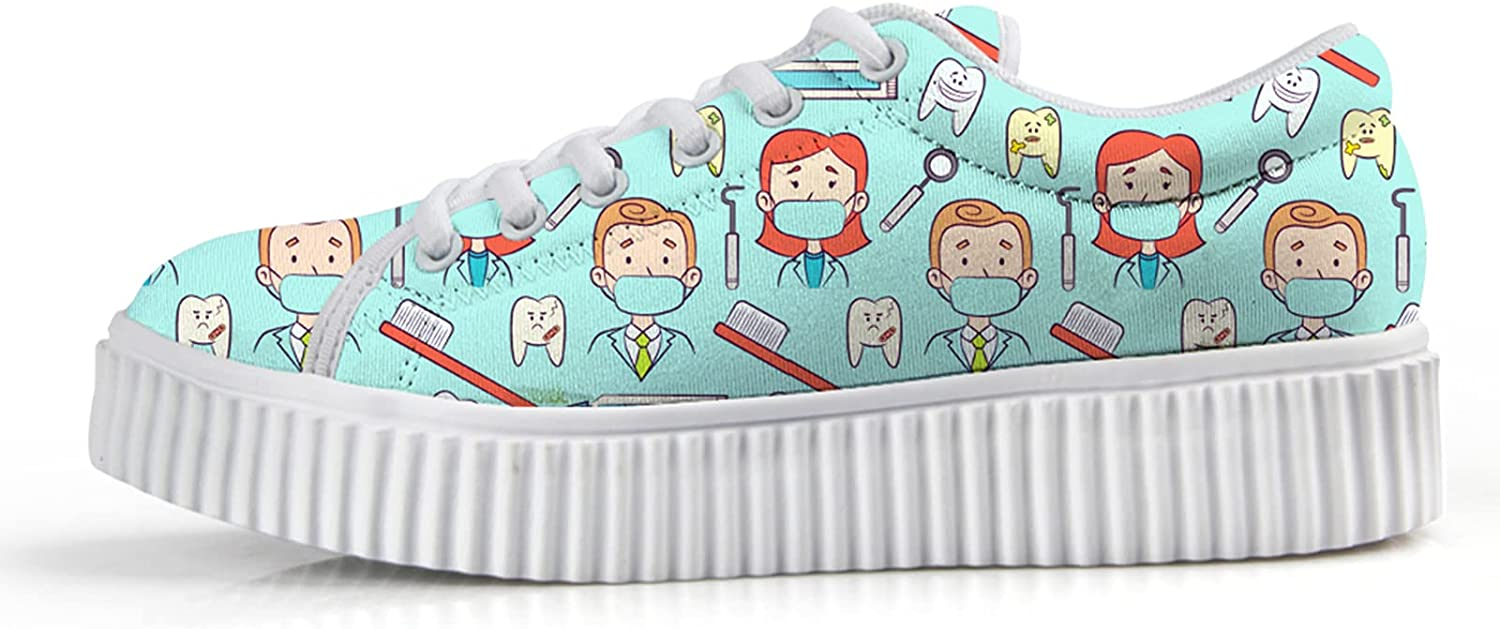 Owaheson Dentist Hygienist Dental Max 55% Max 48% OFF OFF Care Wedge for Women Sneakers