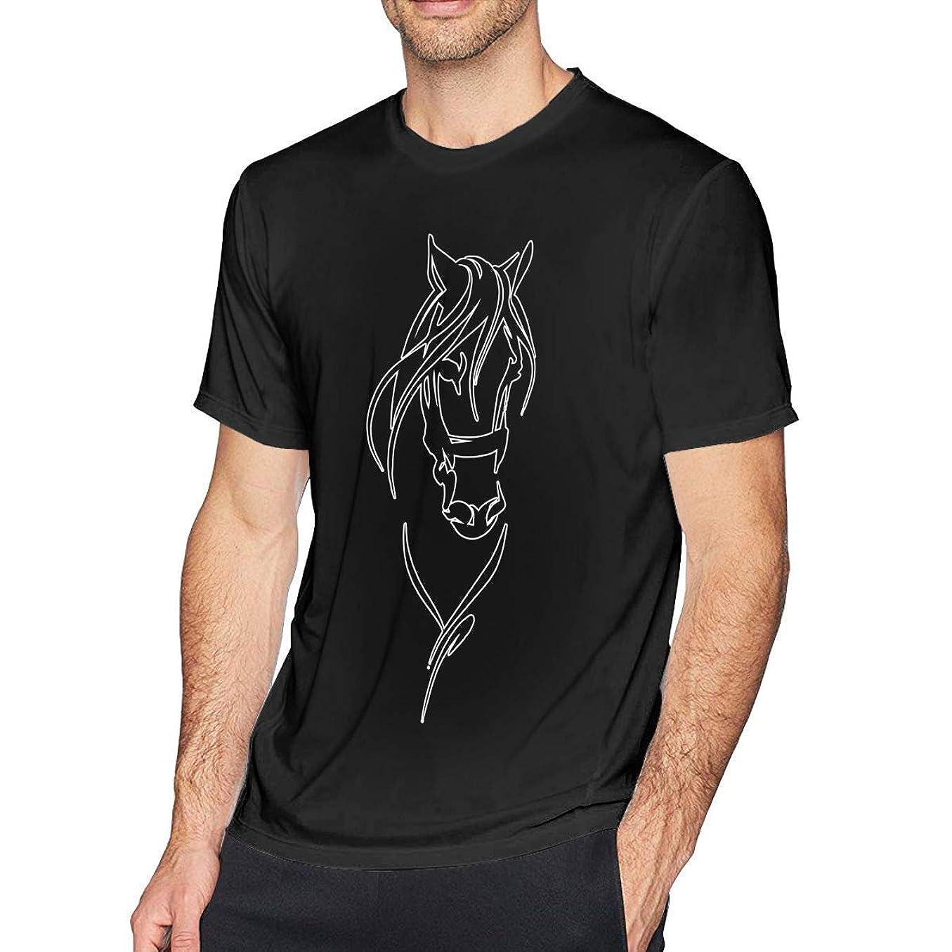 告白シャンプー罰する乗馬愛好家男Tシャツクルーネックスクリーンプリント半袖コットンシャツ、大人用ユース
