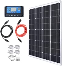 TP-solar Solar Panel Kit 100 Watt 12 Volt Monocrystalline Off Grid System for Homes RV Boat + 20A 12V/24V PWM Solar Charge Controller + 16ft Solar Cables with MC4 Connector + Z-Brackets for Mounting
