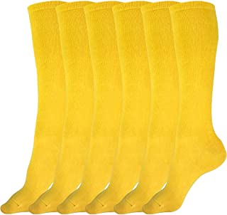 3 Pairs of Boys and Girls Solid Knee High Uniform Socks for School, Soccer, Football, AFO etc.