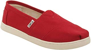 TOMS Kids Unisex Alpargata 2.0 (Little Kid/Big Kid) Red Canvas 6 M