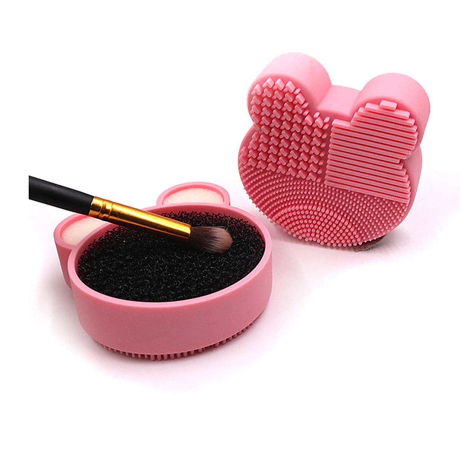 AnHua Lovely Bear Sales results No. 1 Makeup Brush Washing Cleaner Cleanin Super special price Pad