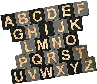 Dolity 26 Embellishenment Blocks Cubes Kids Toy English Alphabet Games Wooden Craft Pre-School Kindergarten Learn Study Toys #e