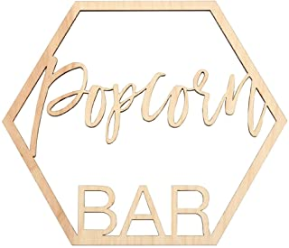 Koyal Wholesale Wood Popcorn Bar Sign, Wedding Display, Party Banner, Event Decorations for Wedding Engagement Bridal Show...