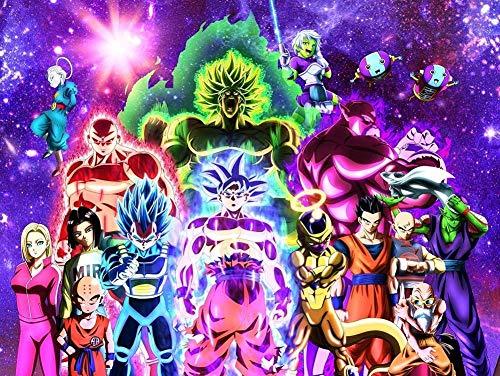 Rompecabezas de 1000 Piezas Personaje de Dragon Ball Super Puzzle Paisaje Famoso Rompecabezas de Papel de Paisaje para niños Adultos Adolescentes Familia Educativa Descompresión Intelectual