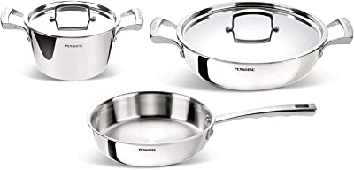 Pensofal PEN 5908 Professional Aluminum And Stainless Steel 5 Piece Cookware Set For All Cook Tops Including Induction
