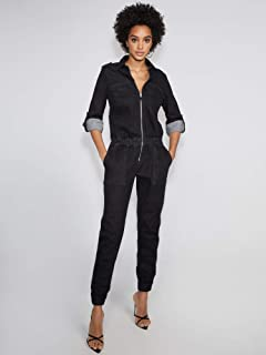 New York & Co. Women's Black Denim Jumpsuit - Gabrielle Union Collection