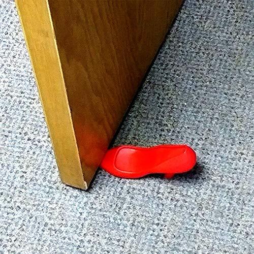 Decorative High Heel Door Stop, Set of 3 Red Novelty Shoe,