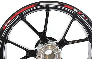 IMPRESSIATA Suzuki Motorrad Felgenrandaufkleber SpecialGP Rot und Weiß Komplettset Aufkleber Sticker