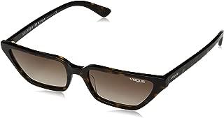 VOGUE Women's VO5235S Cat Eye Sunglasses, Dark Havana/Brown Gradient, 53 mm