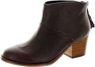 TOMS Women's Leila Bootie Oxblood Leather