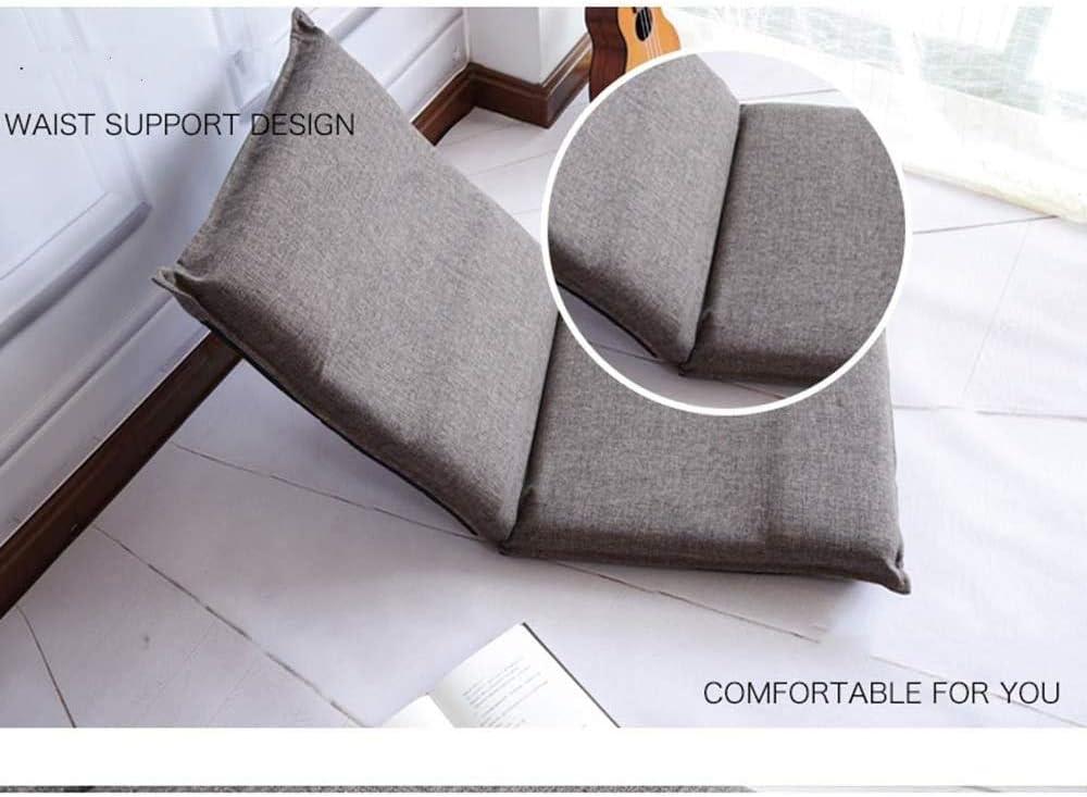 ZZX Transat Chaise Salon Chambre Chaise étage Fille Mignonne Chaise Pliante couché Individuel Brun Chaise d'ordinateur Confortable et Beige (Couleur, Beige),Beige Marron
