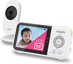 """VTech VM819 Video Baby Monitor with 19Hour Battery Life 1000ft Long Range Auto Night Vision 2.8"""" Screen 2Way Audio Talk Te..."""