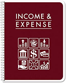BookFactory Income & Expense Journal/Income and Expenses Tracking Ledger/LogBook 108 Pages - 8.5