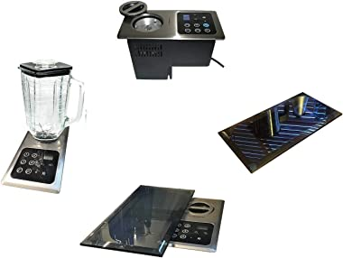 Built-in Blender: 1000 Watt Motor Hidden Below CounterTop; Multi-Function, Universal: + Protective Blk Glass Cover-(re: NuTon