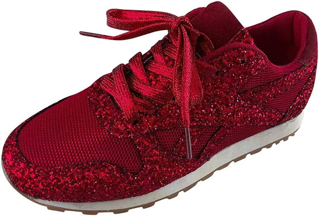 All stores are sold MLAGJSS Running Shoes for Women Under blast sales Women's Breathable Cryst Casual