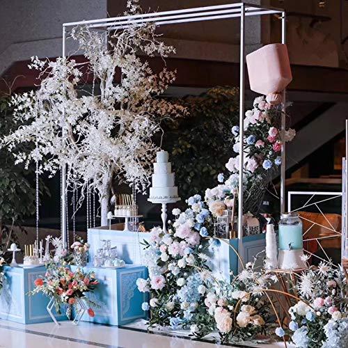 Decoración de Boda, Enrejado de Arco de Jardín de Flores al Aire Libre, Cenador de Jardín de Acero Duradero para Plantas Trepadoras, Altura Ajustable