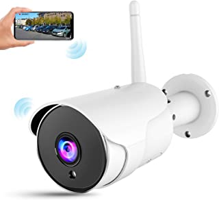CHORTAU Outdoor Security Camera Wireless Wifi, Waterproof IP Camera Wireless with FHD 1080P, 3MP 110°Angle Wifi Bullet Sur...