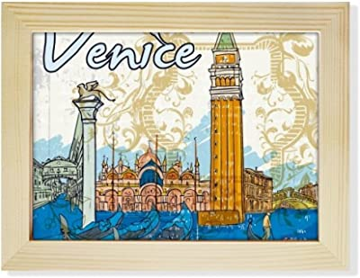DIYthinker Italy Venice Landmark National Illustration Desktop Wooden Photo Frame Picture Art Painting 6x8 inch