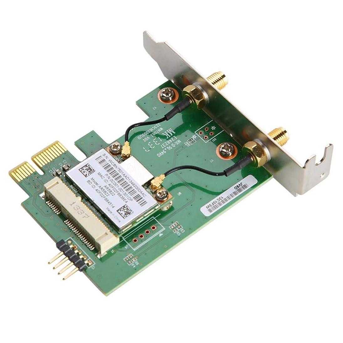取り扱いけがをする失望させるLANアダプター Acouto AR5B22デュアルバンド 300MワイヤレスPCI-E WiFiカードアダプタ デスクトップPC用 ネットワークカード 2.4G / 5Gデュアルモード