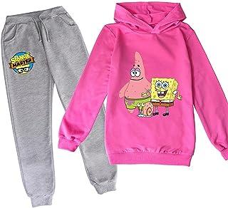 ZKDT SpongeBob - Sudadera con capucha para niños, estilo informal, manga larga, cómoda y con capucha, juego de 3-14 años d...