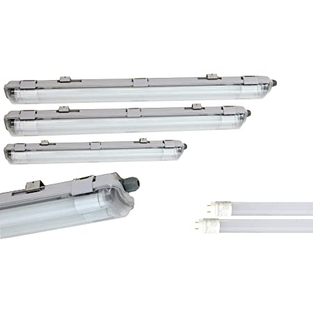 8er 60cm LED Röhre Leuchtstoffröhre 20W LED Wannenleuchte Feuchtraumlampe 6000k