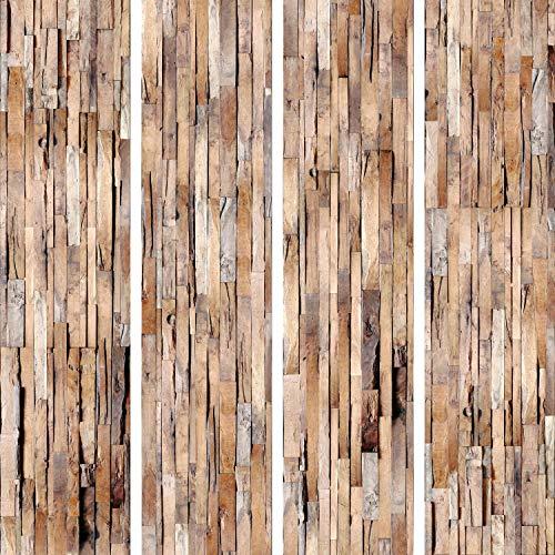 murando - PURO TAPETE selbstklebend Holzoptik 10m Wandtattoo dekorative Möbelfolie Dekorfolie Fotofolie Panel Wandaufkleber Wandposter Wandsticker - Holz f-A-0205-j-c