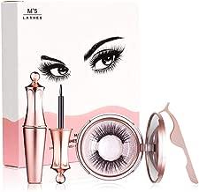 SHISANCHE False Eyelashes Kit With Magnetic False Eyelashes, Magnetic Eyeliner And Eyelashes Tweezers, No Glue Full Eye 5 Magnets Reusable Fake Eyelashes Natural Soft Eyelashes Extensions-Diamond