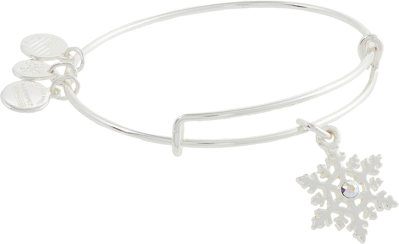 Alex and Ani Crystal Infusion Snowflake Bangle Bracelet