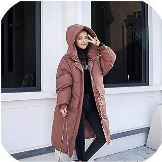 Down Cotton Winter Jacket Women Chaquetabf Style Hoodies Thick Long Coat Warm Parka Jacket Cotton Women Coat
