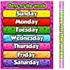 School Smarts ラミネート加工 曜日曜日 壁ポスター 幼稚園児用 大型 丈夫 週日の名前を表示 ホームスクールや教室での使用に 17 x 22インチ
