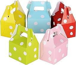 60 piezas (7 * 5 * 5 cm) Cajas de dulces Pralinés Dulces regalos de chocolate Recuerdos para invitados de boda Bautismo Fiesta de cumpleaños Puntos 5 colores
