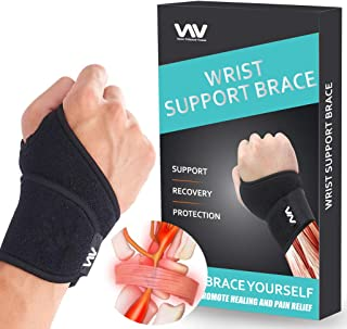 Wrist Brace for Carpal Tunnel, Adjustable Wrist Support Brace for Arthritis and Tendinitis, Wrist Compression Wrap for Pai...