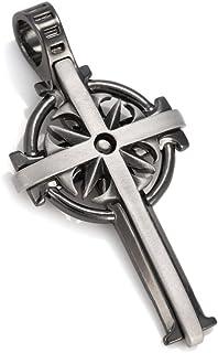 Bico Australia Thunder Celtic Cross in Silver and Gunmetal