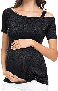 Camiseta de Mujer Maternidad Asimétrica, ropa premama talla grande