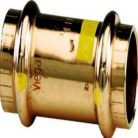 Pack of 5 2 x 2 Viega ProPress Copper Coupling Stop P x P