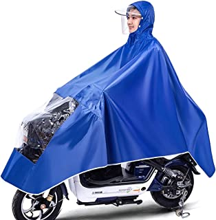 Waterdichte fietsponcho, lichtgewicht en compact, winddicht regenjas manteljack met capuchon, universeel voor mannelijke e...