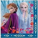 amscan アナと雪の女王 2 誕生日 アナとエルサ ランチョンナプキン 6.5インチ x 6.5インチ 16枚 マルチカラー