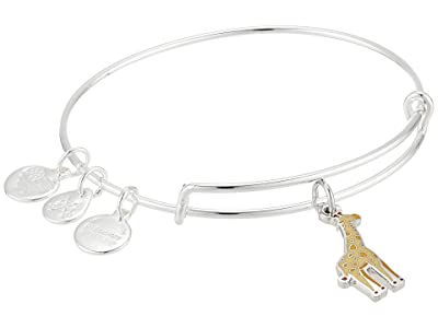 Alex and Ani Color Infusion Giraffe Bangle Bracelet (Shiny Silver) Bracelet