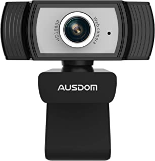1080P Webcam, AUSDOM AW33 Full HD Web Cam with Built-in Noise Reduction Microphone Stream USB Web Camera for Zoom Meeting, Video Conferencing, Online Work, Home, Office,YouTube, Skype, and Streaming